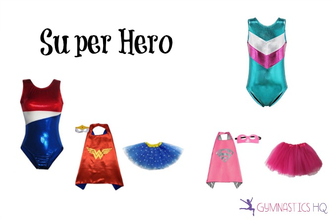 super hero halloween costume with leotard