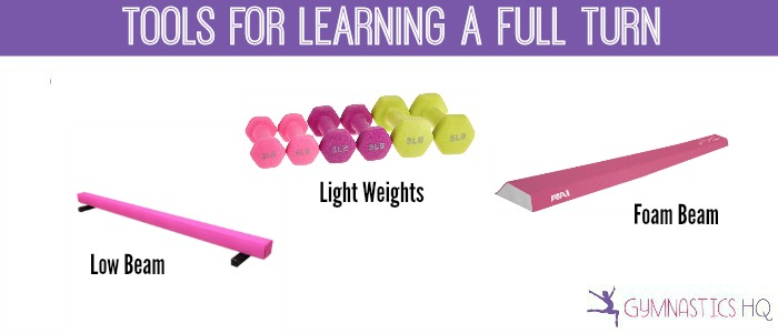 tools for learning a gymnastics full turn