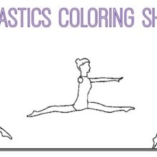 Gymnastics Coloring Pages