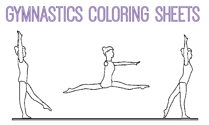 Gymnastic Coloring Pages Gymnastics Coloring Pages