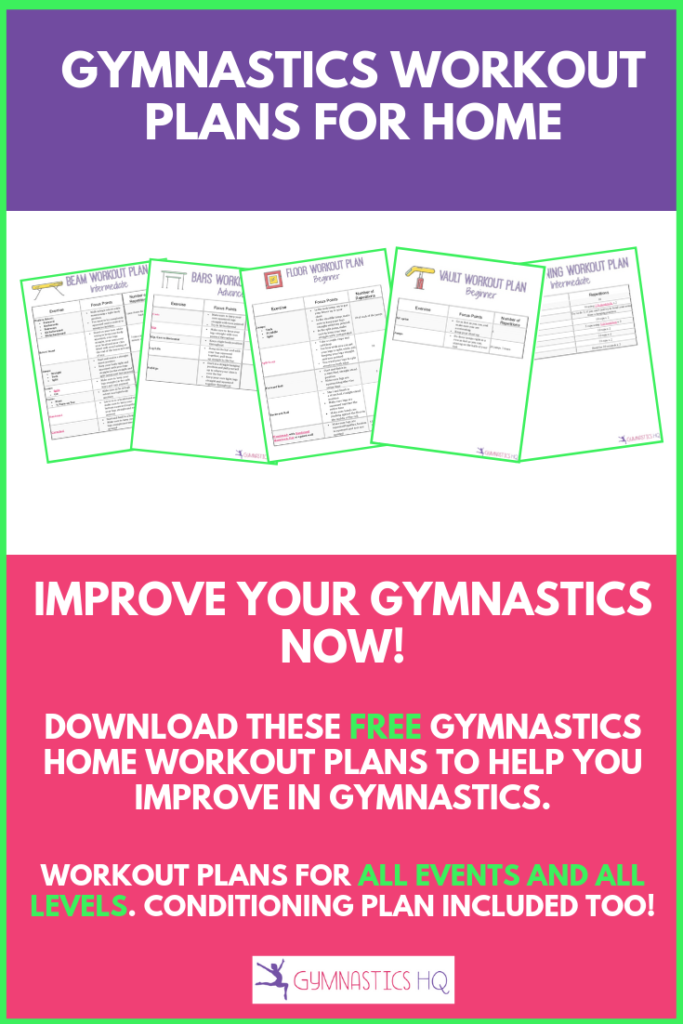 FREE At home gymnastics workout plans for you to download and do at home.