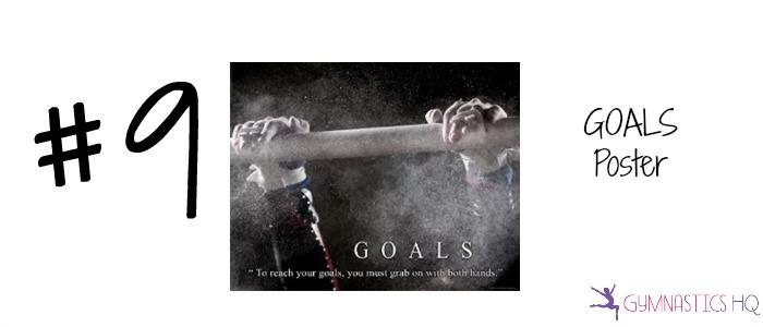 goals poster popular gymnastics gift