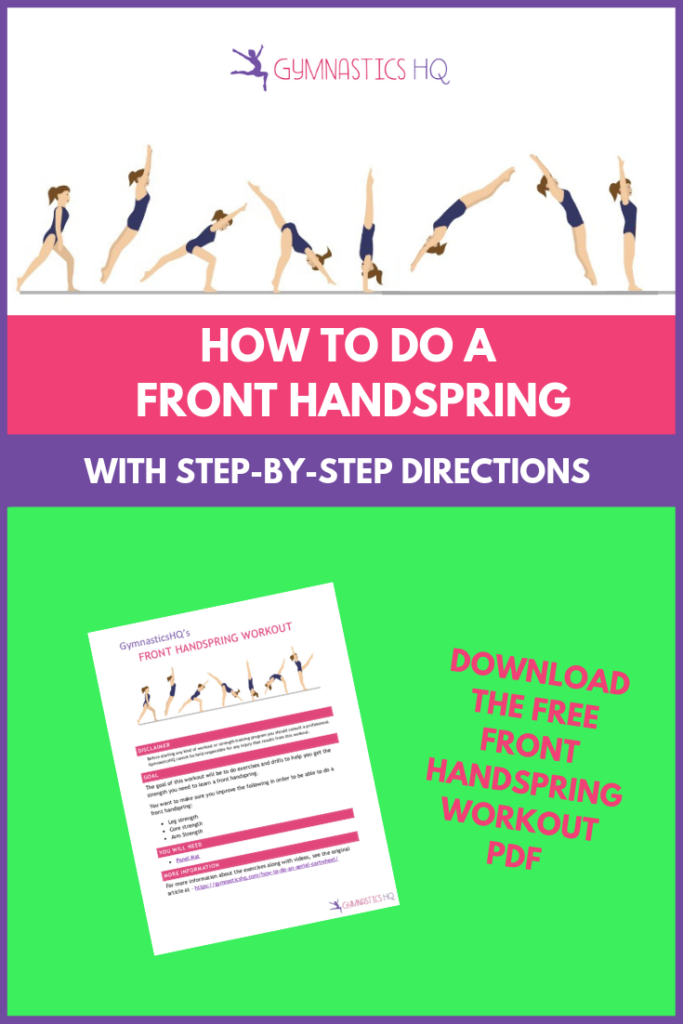 How to do a front handspring with free front handspring workout pdf.