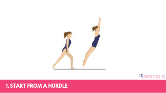 Step by step guide to doing a front handspring.