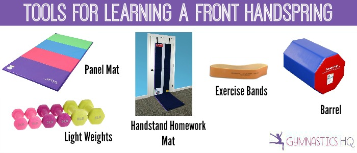 gymnastics equipment for learning a front handspring