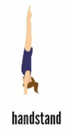 Handstand is a basic shape in gymnastics