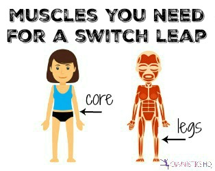muscles you need for a switch leap