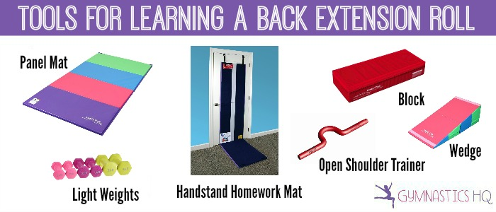 tools for learning a back extension roll