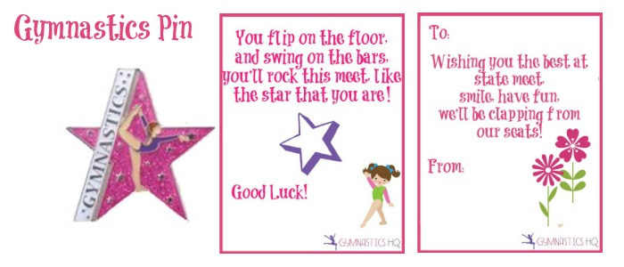 gymnastics pin good luck gift