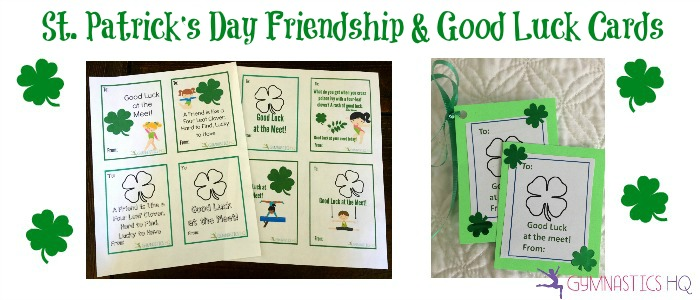 st patricks day gymnastics cards