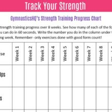 3 Ways to Track Your Gymnastics Progress {Free Downloads}