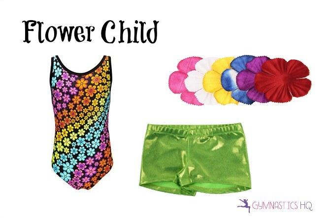 flower child costume with leotard