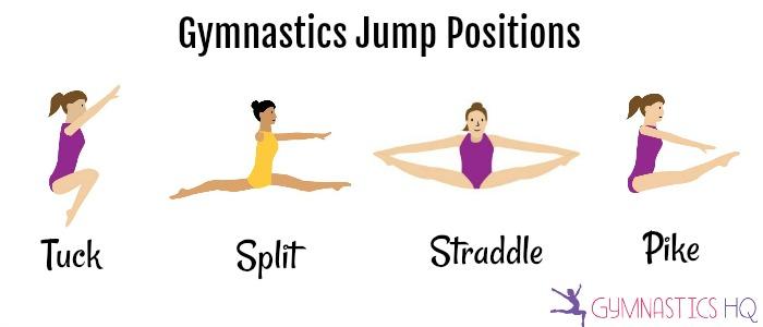 gymnastics jump positions