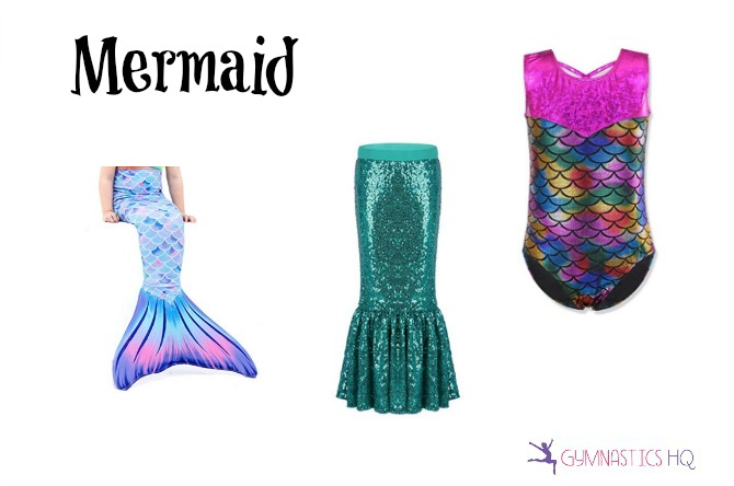 mermaid costume using gymnastics leotard for halloween
