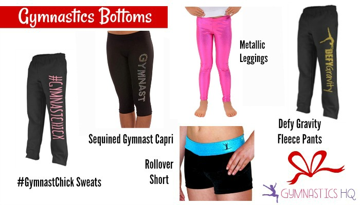 gymnastics gift ideas bottoms sweatpants leggings