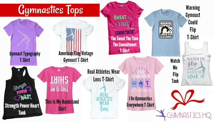 gymnastics gift ideas shirts and tank tops