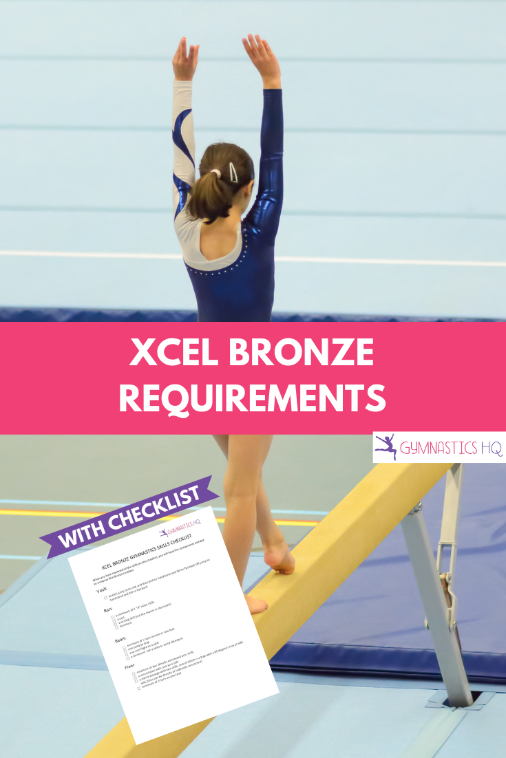 Xcel Bronze Gymnastics Requirements with free checklist