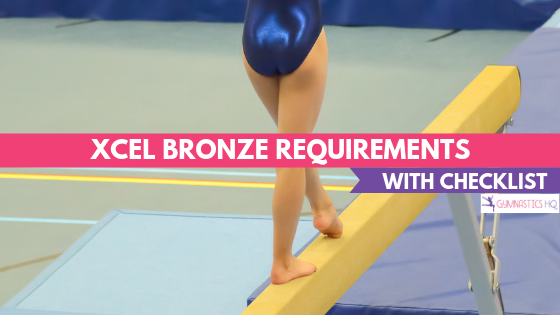 Xcel Bronze Gymnastics Requirements with FREE checklist