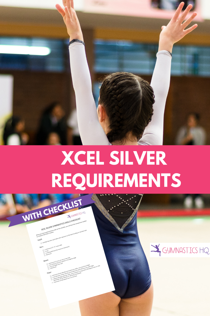 Xcel silver gymnastics requirements with checklist