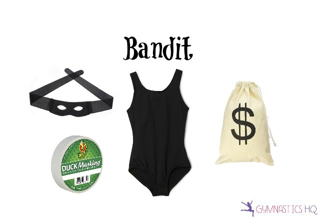 bandit robber costume with leotard halloween