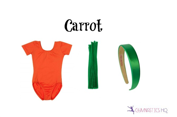 carrot halloween costume with leotard