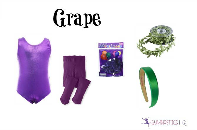 grape halloween costume with leotard