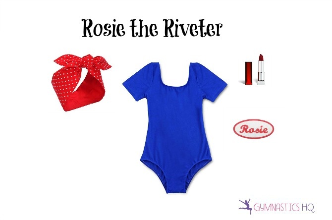 rosie riveter halloween costume leotard