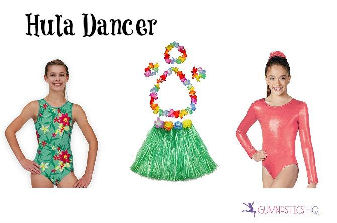 hula dancer costume idea halloween with leotard