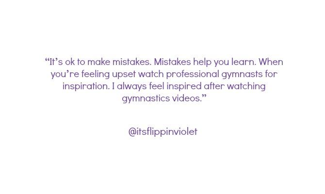 gymnasts on instagram advice