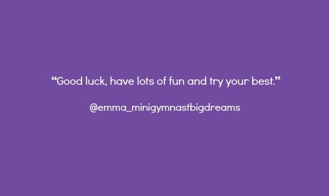 gymnast on instagram advice
