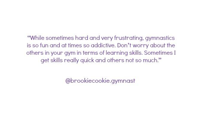 advice gymnasts instagram