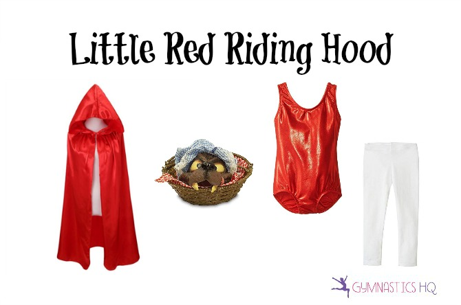little red riding hood costume idea with gymnastics leotard