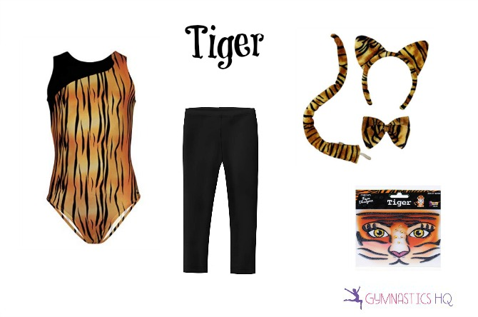 tiger costume idea halloween with leotard