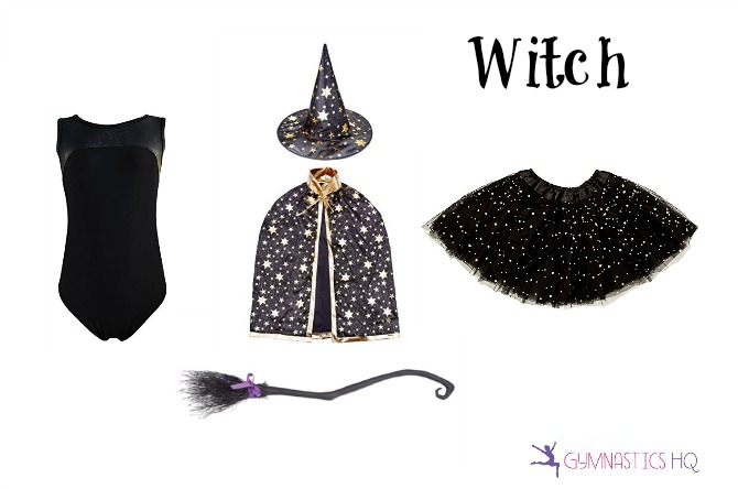 witch costume idea with leotard