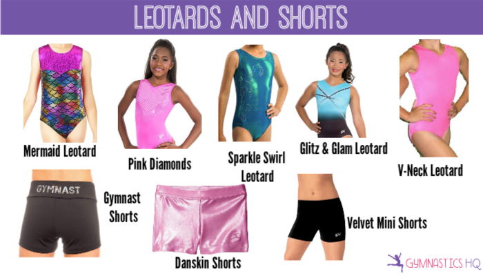 gymnastics leotards and shorts gifts