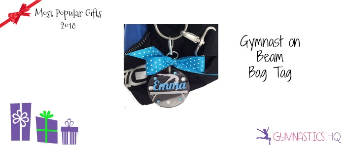 popular gymnastics gifts 2018 personalized bag tag