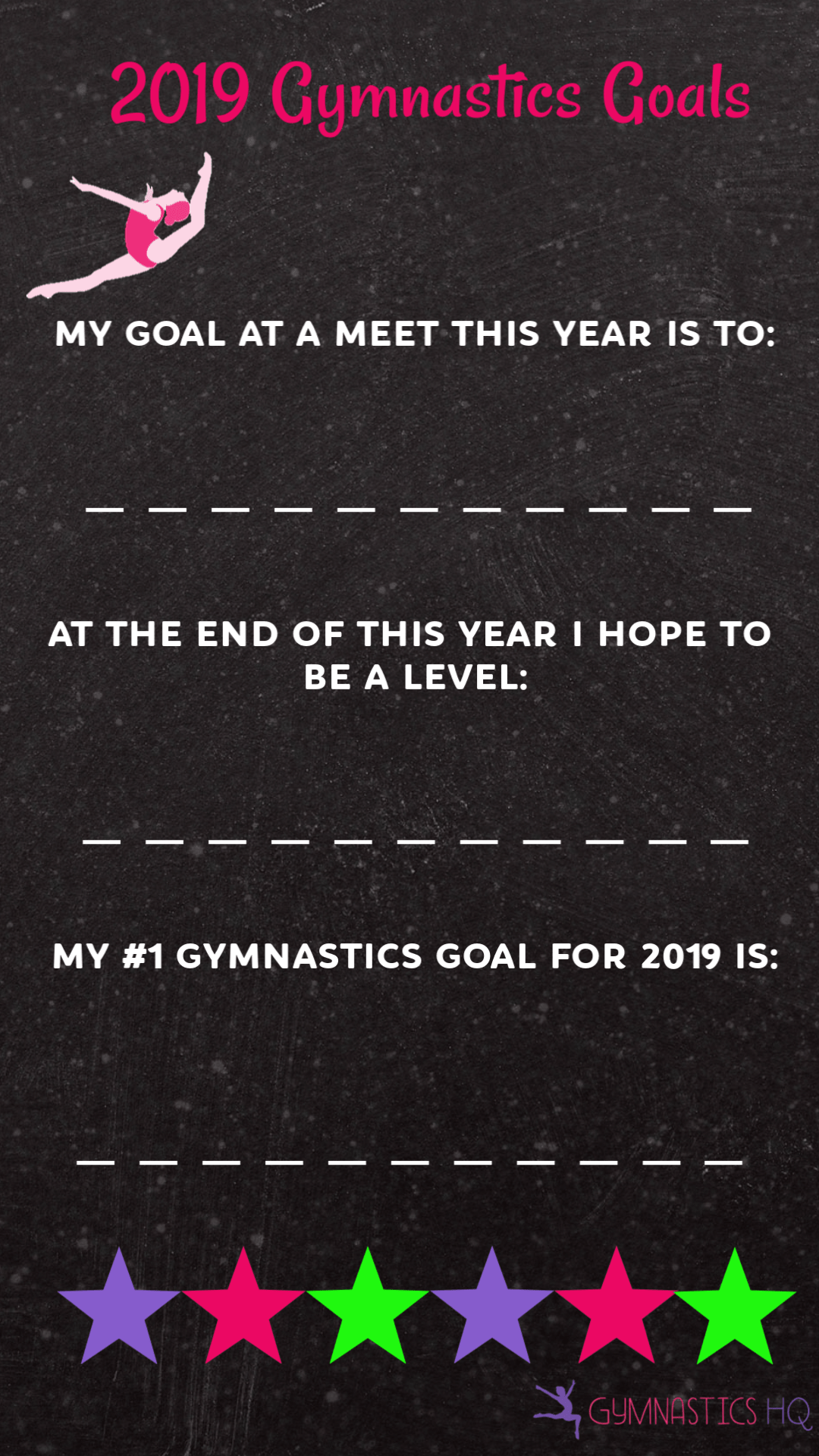 gymnastics goals instagram stories templates