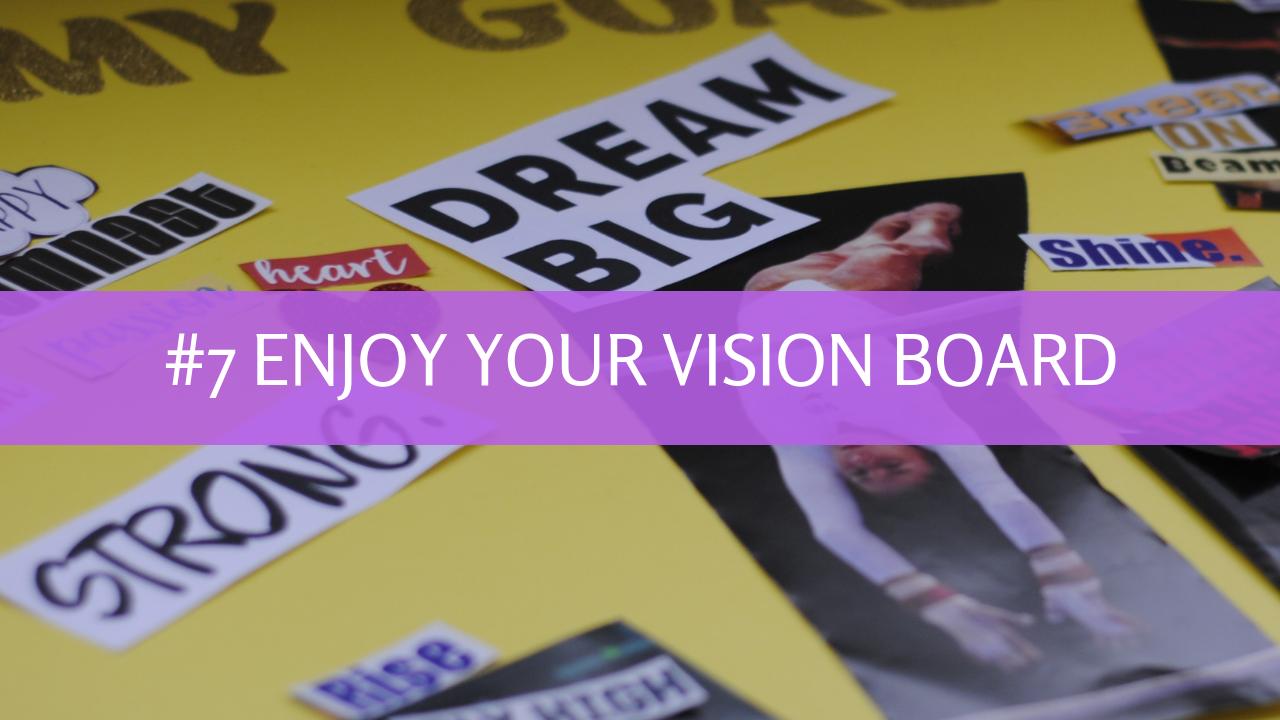 7 Steps to Creating a Gymnastics Vision Board, vision board, gymnasticshq.com