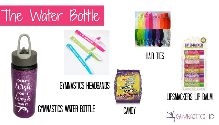 gymnastics party favor ideas water bottle