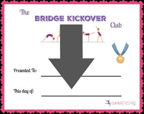 bridge kickover club certificate