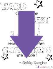 motivational gymnastics coloring page