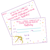 free gymnastics party invitations