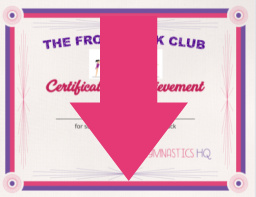 front tuck club certificate