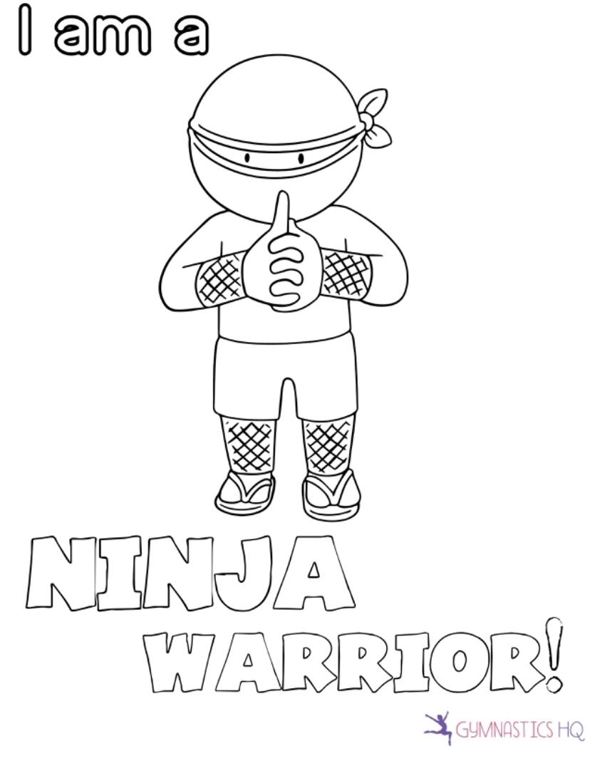 ninja coloring page
