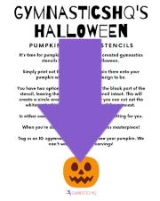 gymnastics halloween pumpkin stencils