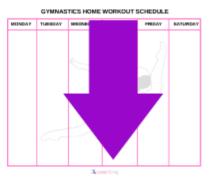 blank gymnastics workout schedule