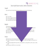 xcel gold skills list
