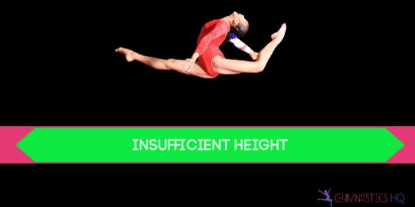 gymnastics deductions insufficient height