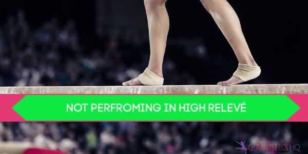 gymnastics deductions releve