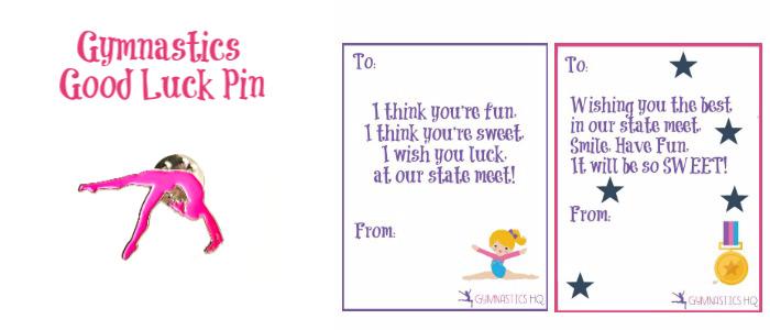 Gymnastics Good Luck Meet Gift Pin